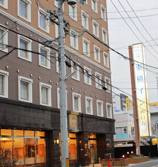 東横INN岡山駅西口右の外観